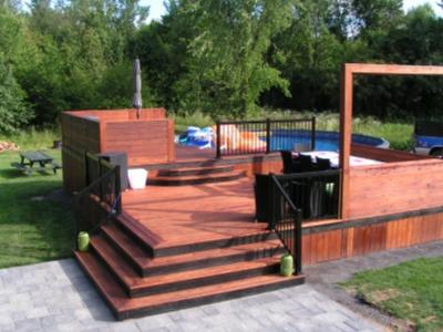 Propos de l 39 entreprise paysagement d philippot for Recouvrement de patio en bois
