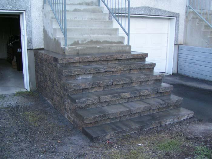 Escalier de pavé-uni
